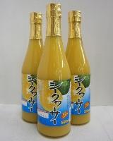 シークワーサー 果汁100% 500ml×3本【賞味期限2020年2月7日】