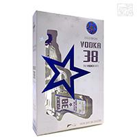 ウォッカ38 ピストル型ボトル ショットグラス2個付き 40度 200ml 正規