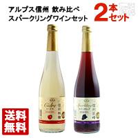 信州アルプス スパークリングワイン 飲み比べ2本セット 500ml